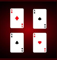 ace set diamonds vector image