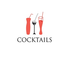 cocktail glass glasses vector image