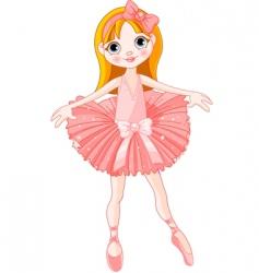 cute ballerina vector image