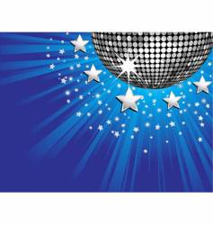 disco ball starburst vector image vector image