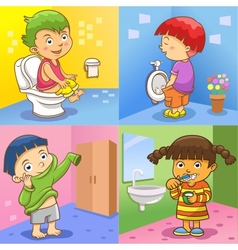 set of child daily activities vector image