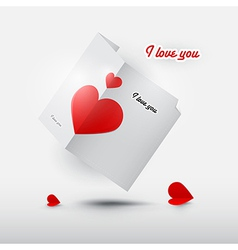 Valentine card with red hearts vector image vector image