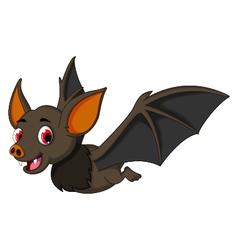 Cute Cartoon bat flying vector image vector image