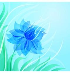 EPS10 azure flower background vector image vector image