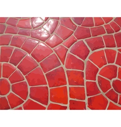 Glazed red stone mosaic texture vector image vector image