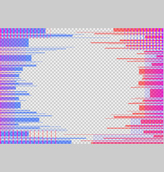 glitched horizontal stripes colorful night lights vector image
