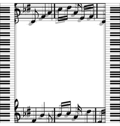 Musical frame vector image vector image