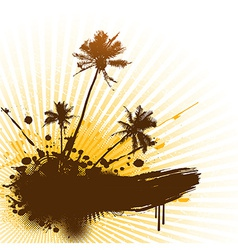 Palms with place for text vector image