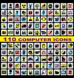 set computer icons vector image vector image