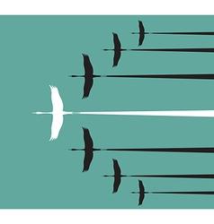 Stork flying vector image