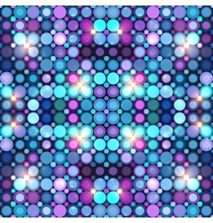 Abstract blue disco lights background vector image vector image