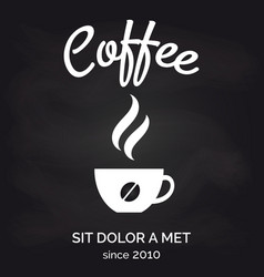 cafe chalkboard poster with coffee cup vector image