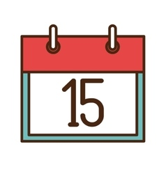 Calendar showing day of month vector image