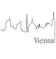 vienna city one line drawing background vector image vector image