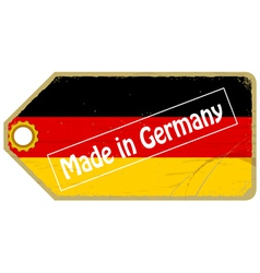 Vintage label with the flag of Germany vector image