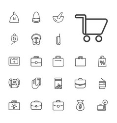 22 bag icons vector