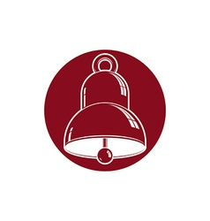3d stylish bell isolated on white detailed high vector