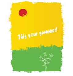 Abstract about summer vector