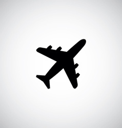 airplane sign logo icon vector image