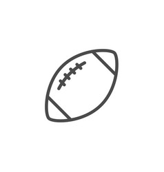 American football ball line outline icon vector