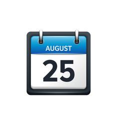 August 25 Calendar icon flat vector