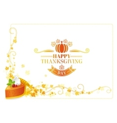 Autumn thanksgiving background text vector image