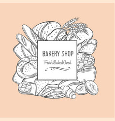 bakery banner template vector image