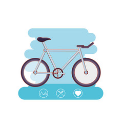 bicycle healthy lifestyle set icons vector image