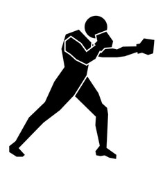 boxing sign icon vector image