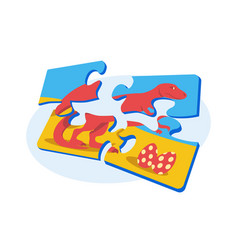 Bright colourful puzzle vector
