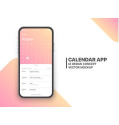 calendar app ui concept vector image