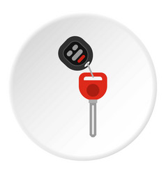 car key icon circle vector image