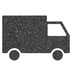 Cargo Van Icon Rubber Stamp vector image