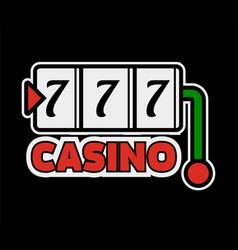 Casino poker logo template lucky numebr 7 vector
