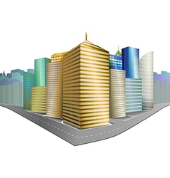 City District Isolated vector image