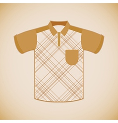 Clothing polo shirt vector image