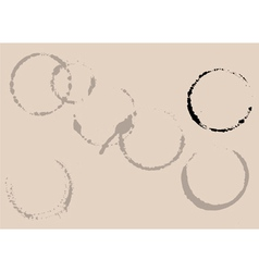 coffee or tea cup stains vector image