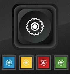 cogwheel icon symbol Set of five colorful stylish vector image