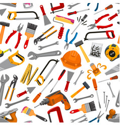 Construction working tool seamless pattern vector