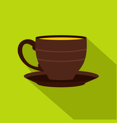 Cup icon flat style vector