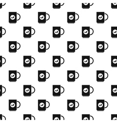 Cup of tea pattern simple style vector image