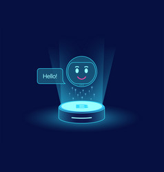 Cute chat bot virtual voice assistant mobile vector