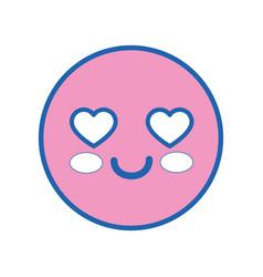 Cute kawaii emoticon vector
