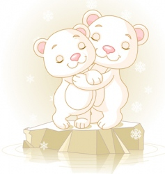 cute polar bears vector image
