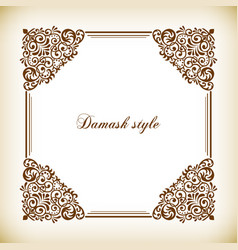 Decorative square frame vintage style vector