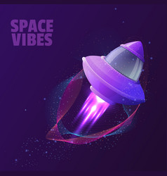 Design with space ship vector