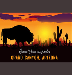 Drawing panama grand canyon vector
