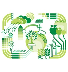 eco infographics vector image