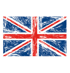 flag united kingdom with grunge texture vector image