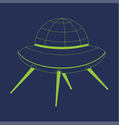 Flying saucer design vector